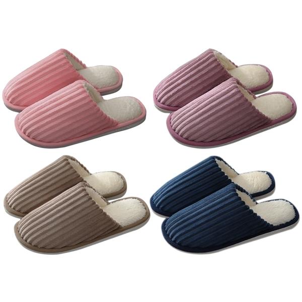 秋冬情侶款毛絨室內保暖拖鞋(1雙入) 顏色/尺寸可選【小三美日】