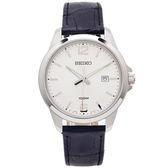 SEIKO 經典簡約風手錶(SUR249P1)-銀面X黑色/42mm