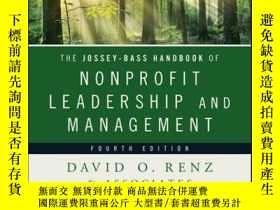 二手書博民逛書店The罕見Jossey-Bass Handbook of Nonprofit Leadership and Man