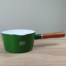 【日本CB JAPAN】(新款)北歐系列琺瑯原木單柄牛奶鍋/琺瑯鍋-森林綠
