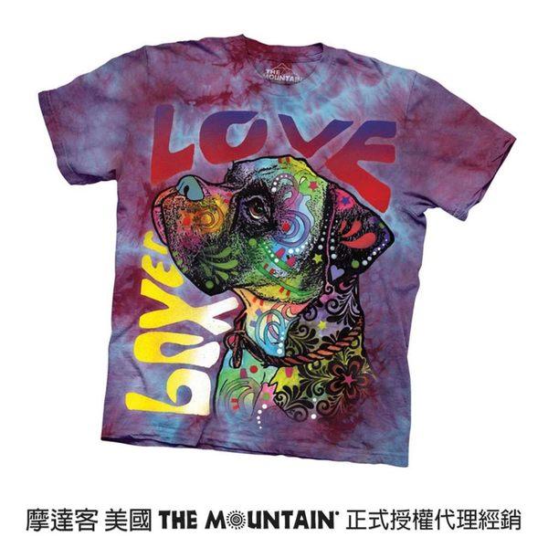 【摩達客】(預購)(大尺碼3XL)美國進口The Mountain 彩繪愛拳師狗 純棉環保短袖T恤(10416045115a)