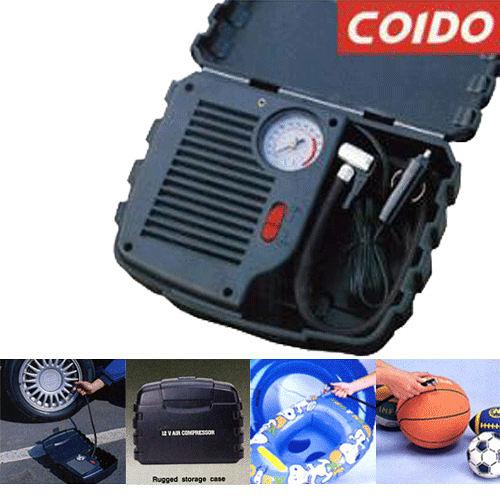 《COIDO鐵甲武士》高速充氣300PSI打氣機-內建胎壓表