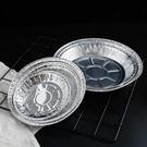 錫紙氣炸鍋專用燒烤托盤圓形一次性家用加厚鋁箔耐高溫烤箱烘焙(@777-10903)