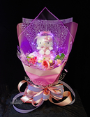 Hello Kitty水晶球造型絨毛娃娃金莎捧花(附燈),情人節禮物//畢業花束,節慶王【Y653913】