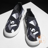 男鞋帆布鞋壹腳蹬布鞋休閒鞋百搭板鞋【橘社小鎮】