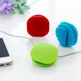 ♚MY COLOR♚創意卡扣式繞線器 糖果色 集線器 理線器 耳機線 收納 辦公室 桌上 居家【Y32】
