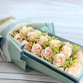 玫瑰香皂花禮盒生日爛漫創意高檔玫瑰花束仿真花七夕情人節禮物【博雅生活館】