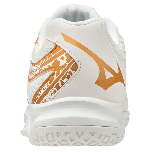 MIZUNO THUNDER BLADE 2 女鞋 排球 手球 2.5E 基本 耐磨 輕量 白 金【運動世界】V1GC197052