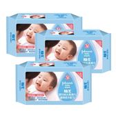 嬌生 嬰兒純水柔濕巾 棉柔加厚型 80片X3包入【德芳保健藥妝】