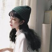 假發女潮流戴帽子一體仿真自然羊毛卷中長發秋冬款時尚 花樣年華