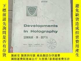 二手書博民逛書店proceedings罕見developments in holography(P2730)Y173412