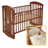 【促銷】奇哥 比得兔 原木中床+優雅比得兔六件式寢具組/床組 (M)