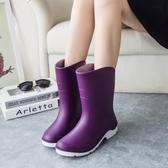 雨鞋女韓國可愛男生雨靴女士膠鞋中筒水靴防水鞋短筒防滑套鞋