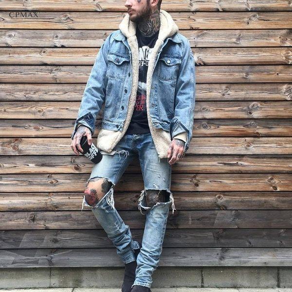 CPMAX 寬鬆毛絨連帽外套 暖復古慵懶風 羊羔絨外套 連帽開襟外套 男款外套 羊羔絨【C81】