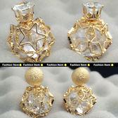 簍空星星鋯石造型耳環 G00033【櫻桃飾品】【G00033】