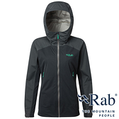【RAB 英國】女 KINETIC 單件式軟殼防水外套『鯨魚灰』QWF76 雨衣│釣魚外套│夾克│慢跑路跑外套