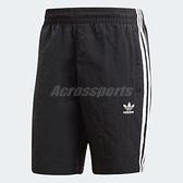 adidas 短褲 3 Stripes Swim Shorts 黑 白 三條線 男款 運動褲 【ACS】 CW1305