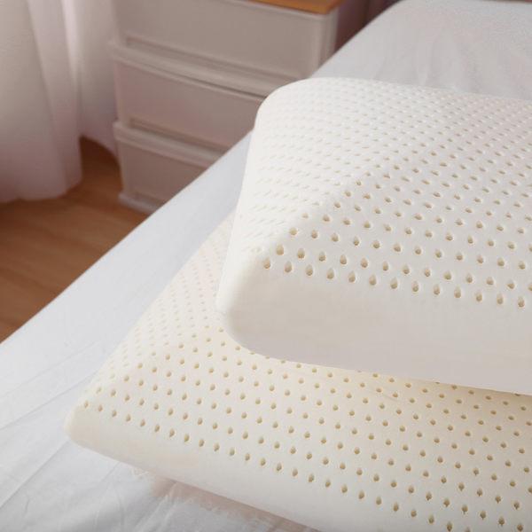 枕頭 / 乳膠枕 / 美國進口100%乳膠枕-中高型 一入【防蹣抗菌、Q軟支撐力佳】 ( A-nice ) / 廣 IFA