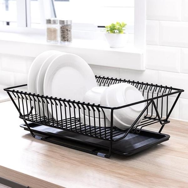 瀝水架廚房碗筷餐具水果蔬菜收納籃盤碗碟置物架子晾碗滴水架wy 快速出貨