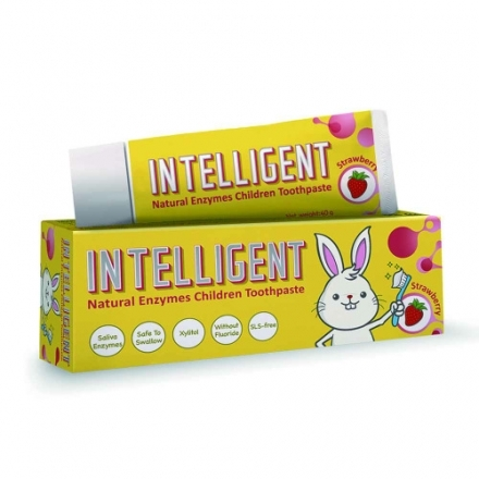 Intelligent 因特力淨 兒童酵素牙膏 (草莓優格) 40g 可吞食不含發泡劑 專品藥局【2002153】