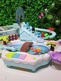 多功能早教寶寶釣魚玩具磁性小貓女英雄電動音樂戲水兒童游戲樂園歐歐流行館