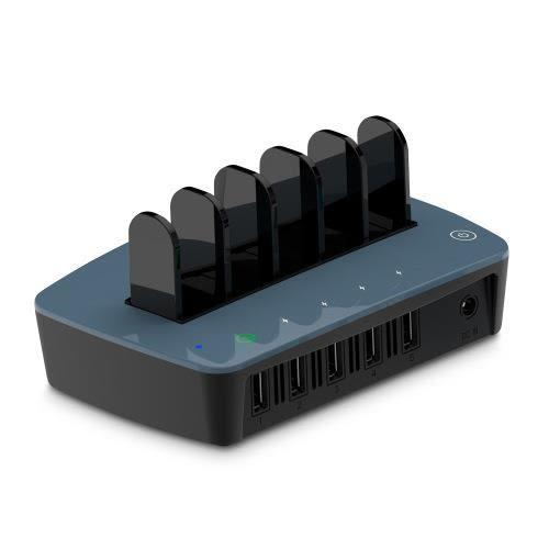 Hawk QC2.0 5Port電源充電器-藍