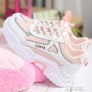 女童鞋 女童鞋子季韓版兒童皮面運動鞋初中女生小學生休閒老爹鞋 快速出货
