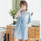 中大尺碼浴袍 2019新款棉質日式和服和風睡袍短袖薄款寬鬆胖mm200斤 FR7856【每日三C】