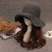 618好康又一發百搭盆帽漁夫帽毛呢帽子