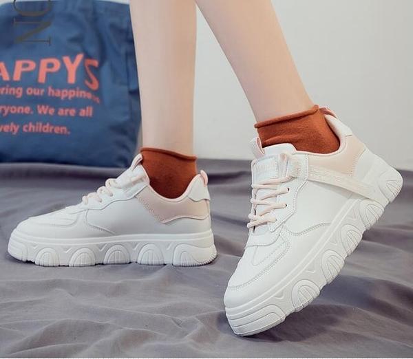 女休閑板鞋 2020年秋冬季爆款小白鞋新款百搭板鞋運動老爹女鞋