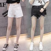 牛仔短褲女新款夏季韓版破洞高腰闊腿寬鬆學生百搭顯瘦熱褲子 探索先鋒