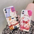 好運招財貓 適用 iPhone12Pro 11 Max Mini Xr X Xs 7 8 plus 蘋果手機殼