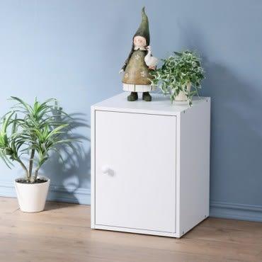 【Homelike】現代風單門置物櫃(三色)純白