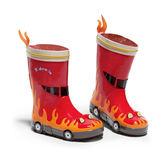 兒童雨鞋男童立體消防員雨靴