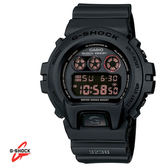 CASIO G-SHOCK 全黑反紅字運動數位膠帶電子錶 DW-6900MS-1 防水防撞 當兵軍用錶 公司貨