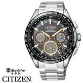 〖分期0利率〗CITIZEN 星辰錶 GPS衛星對時鈦金屬黑金三眼錶 CC9015-54F 公司貨 | 名人鐘錶
