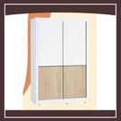 【多瓦娜】小北歐4尺推門衣櫥(內附側拉鏡) 21152-346002