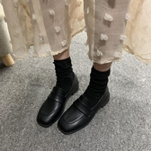 皮鞋女 英倫學院風方頭百搭INS鞋子女CHIC港風小皮鞋女潮2019春新款單鞋【快速出貨】