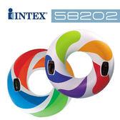 【美國 INTEX】戲水系列-彩色炫風座圈/游泳圈(款式隨機) 58202