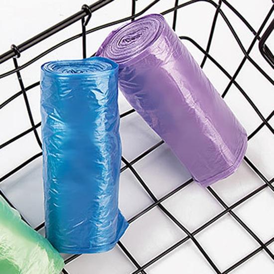 垃圾袋 塑膠袋 彩色垃圾袋 環保材質 斷點式 點斷式 臥室 平口垃圾袋(1捲入) 【Z214】MY COLOR