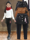 女童打底褲秋冬外穿加絨加厚保暖假兩件中大童洋氣冬裙褲兒童褲子-ifashion