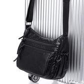 包包新品時尚小方包女斜挎包單肩包媽媽小包水洗軟皮百搭女包 生日禮物 創意