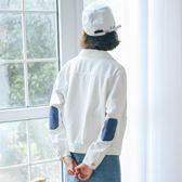 白色短款bf外套上衣學生工裝寬鬆薄款牛仔外套春季女2018新款韓版 東京衣櫃