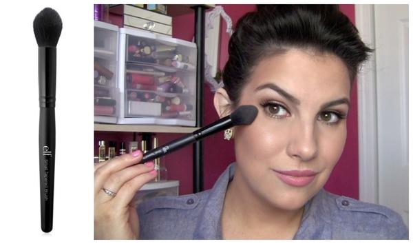 【愛來客 】 美國彩妝品牌ELF Small Tapered Brush 84019#小型錐形刷/腮紅刷高光提亮刷化妝刷