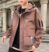 男士2019嘻哈帥氣複古夾克上衣 修身型大口袋外衣 秋冬新款港風潮牌工裝韓版潮流寬松外套