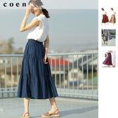 兩穿 印度棉 雙面裙 緹花 A字裙 蛋糕裙免運費 日本品牌【coen】