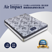 日本直人居家/雲彩風華雙層透氣乳膠硬式獨立筒(7尺雙人特大182/210CM)