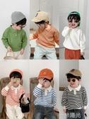 棉小班男童針織POLO衫秋冬新款兒童翻領打底衫寶寶洋氣毛衣潮 一米陽光