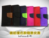 【撞色款~側翻皮套】富可視 InFocus M310 M350 掀蓋皮套 側掀皮套 手機套 書本套 保護殼