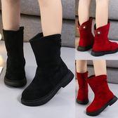 女童靴子日韓兒童短靴冬季雪地靴中筒馬丁靴二棉冬鞋冬款棉靴棉鞋 森雅誠品